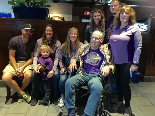 Dan with his family on National MSA Awareness Day on October 3rd, 2015.